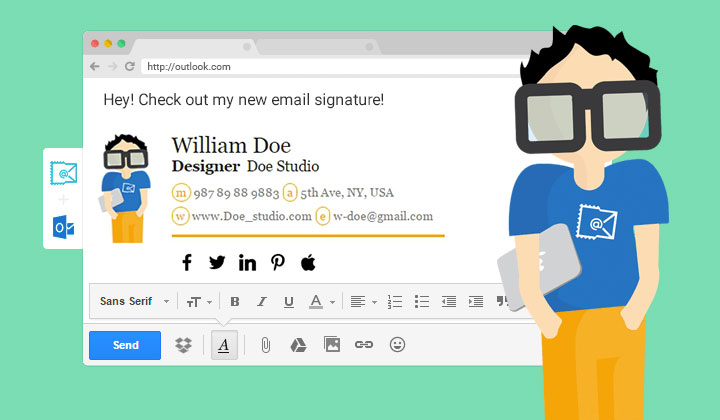 Come creare una firma per email creativa e suggestiva